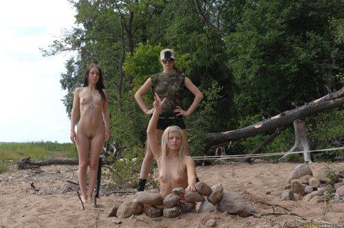 Group special lesbian military training