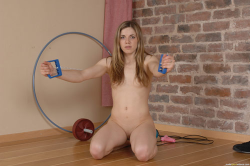 anya 01a Non pro sports chickie Anya does lots of unclad gymnastics and gym drills