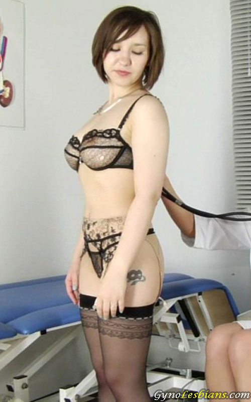 Medical fetish busty babe Lera X. examined in lingerie