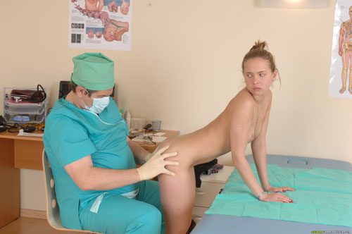 Kinky nude med ass examination