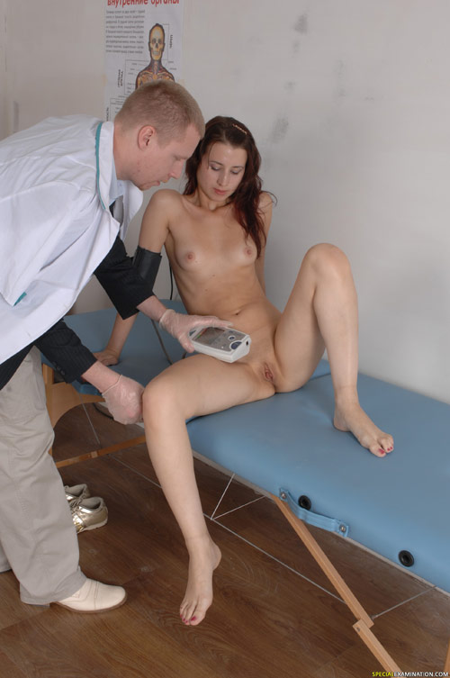 Sexy medical blood pressure measuring