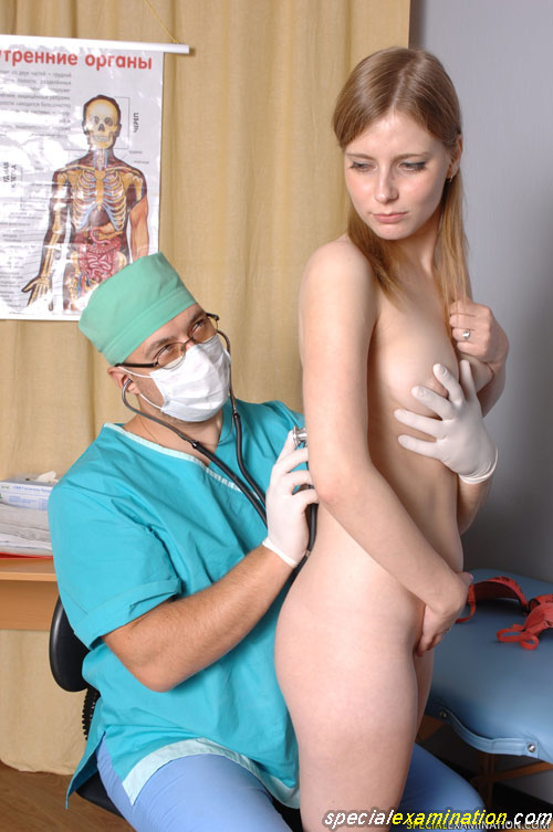 Confusing medical exam manipulations with nude tits and back