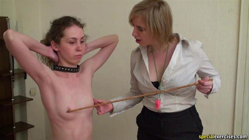 Sex humiliation at a collared special exercises training