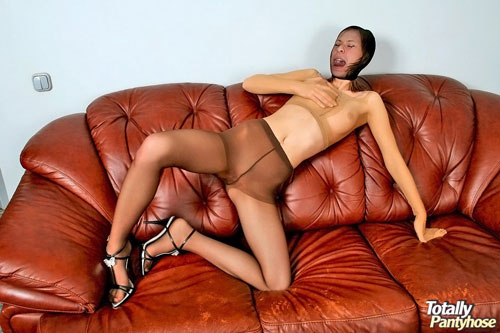 Masturbating girl wearing several pantyhose - ♣Trusted By Hell Porno - A few pairs of enrapturing pantyhose for one sexy-hungry harlot Annabel