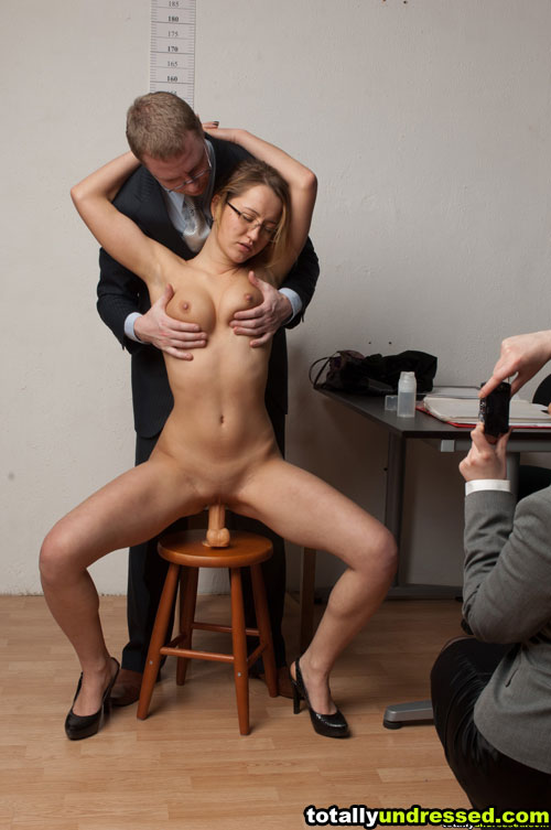 Office maledom dildo sex and lesdom photo session